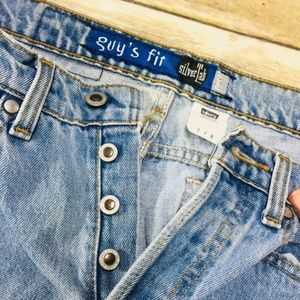 90's Levi's Silver Tab Button Fly Capri Jeans 7/8